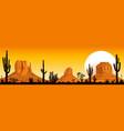 sunset in the arizona desert vector image