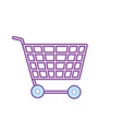 technology shopping car to buy online vector image