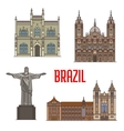 Tourist attraction architecture landmarks in vector image