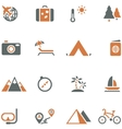 Travel and tourism icon set for design vector image vector image