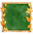 Watercolor school board and autumn leaves vector image vector image