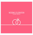 wedding rings line concept background vector image