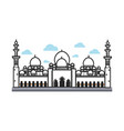 white big arabian temple vector image vector image