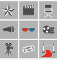icons set Cinema vector image