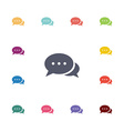 chat flat icons set vector image