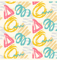 modern seamless pattern with brush painted shapes vector image