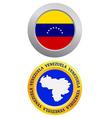 button as a symbol VENEZUELA vector image