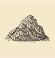 a mountain view hand drawn in vector image vector image
