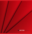 abstract of red paper cut layers background vector image vector image
