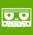 audio cassette tape icon green vector image vector image