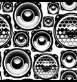 background with speakers seamless pattern vector image