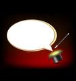 blank empty white speech bubble vector image vector image