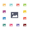 blank photo flat icons set vector image