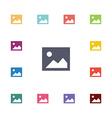 blank photo flat icons set vector image vector image