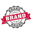 brand stamp sign seal vector image vector image