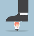 businessman holding big foot vector image