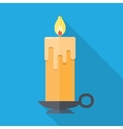 candle in flat style vector image vector image