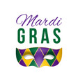 card for mardi gras masquerade vector image
