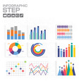 chart and graph infographics elements and icons vector image vector image