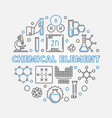 chemical element round outline vector image vector image