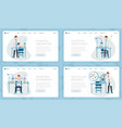 chemical laboratory landing pages set vector image vector image