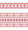 christmas scandinavain folk art repetitive vector image