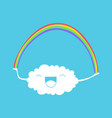cloud and rainbow vector image