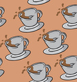 coffee cup pattern vector image