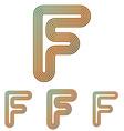 Color line f logo design set vector image vector image