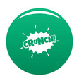 comic boom crunch icon green vector image