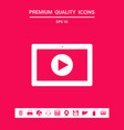 computer tablet with play button icon graphic vector image vector image
