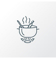 cooking icon line symbol premium quality isolated vector image