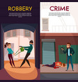 criminals banners set vector image vector image
