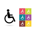 Disabled icon or disabled handicap symbol vector image vector image