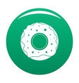 donut icon green vector image vector image
