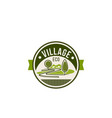 eco village and green trees nature icon vector image vector image