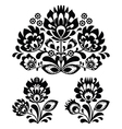 Folk embroidery - floral traditional pattern vector image vector image
