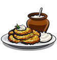 fried potato pancakes vector image vector image