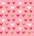 gold glitter heart shape retro seamless pattern vector image vector image