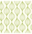 Green vertical ogee seamless pattern background vector image