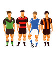group football players vector image vector image
