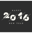 Happy New Year 2016 Abstract Card Text vector image vector image