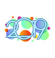 happy new year 2019numeral 2019 colorful 2019 vector image vector image