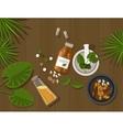 herbal natural medication health nature healing vector image