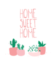 Home sweet home sign vector image vector image