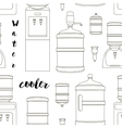 Icons for water cooler appliance pattern vector image vector image