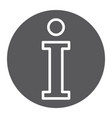 info glyph icon help and inform information sign vector image vector image