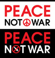 is protest sign against bombing in syria vector image
