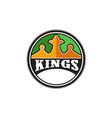 King Crown Kings Circle Retro vector image vector image