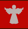 knitted pattern heavenly angel christmas vector image vector image